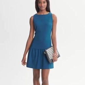 Banana Republic Drop Waist Peacock Blue Dress